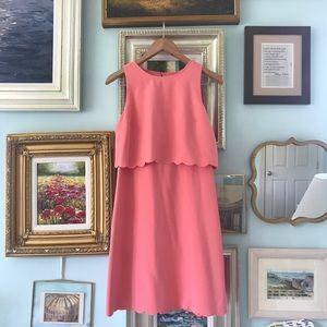 LOFT peach overlay dress